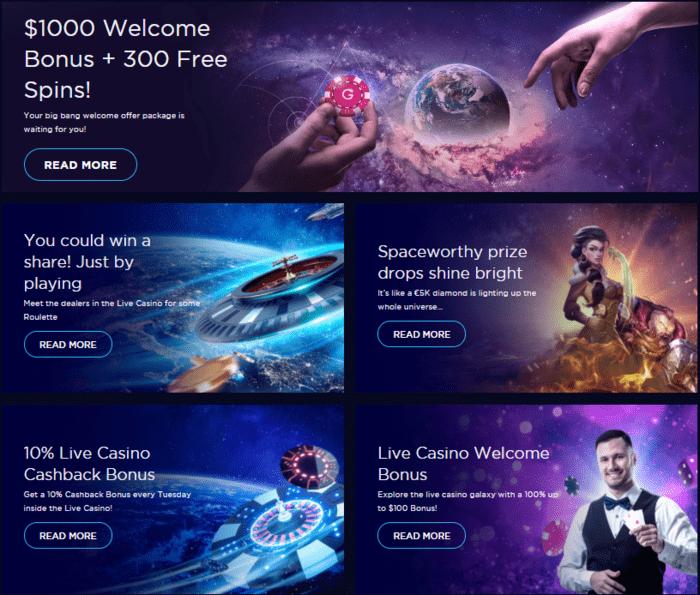 Bonuses Genesis Casino