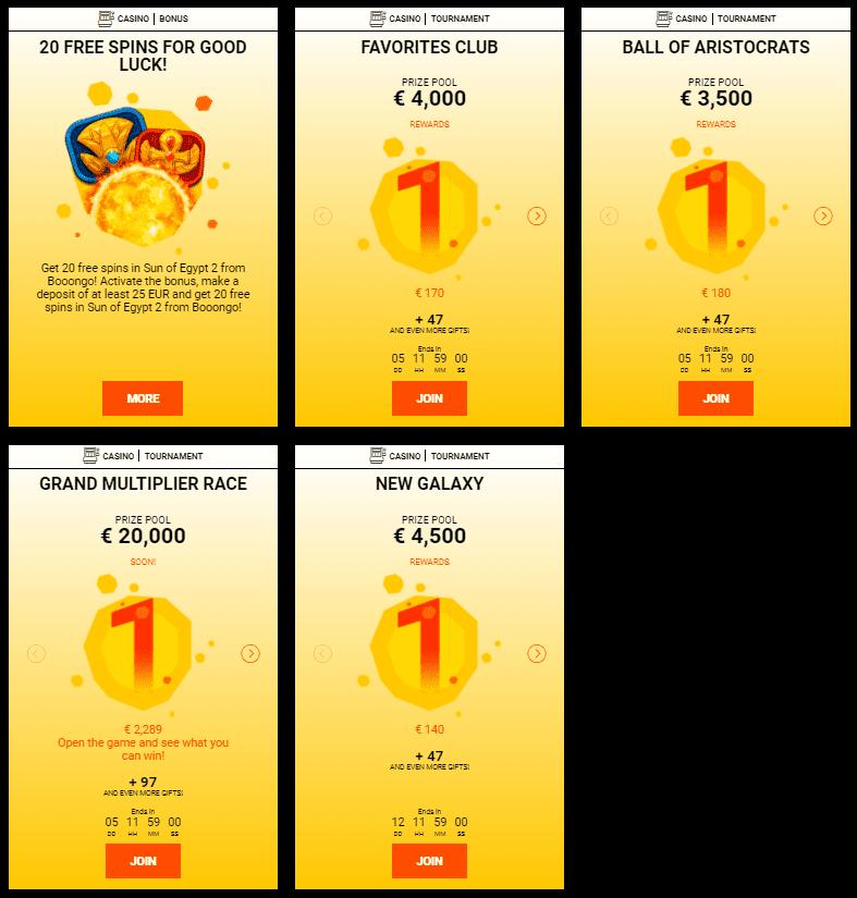 Casino Spinamba Bonuses
