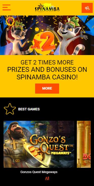 Mobile Version Spinamba Casino