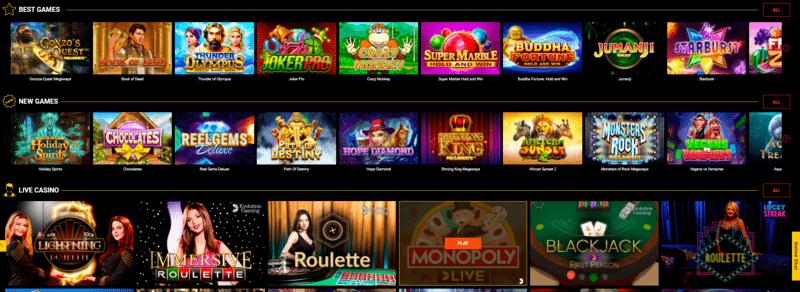 Games Spinamba Casino